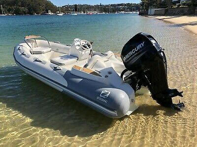 2019 Inflatable Zodiac Yachtline 420 DELUXE Tender | BRAND NEW | White and Grey