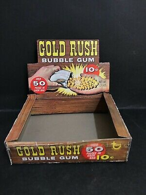 GOLD RUSH VINTAGE 1960's CONFECTIONARY BOX BY TOPPS