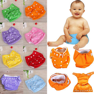 Adjustable Reusable Lot Baby Washable Cloth Diaper Pocket Nappy Covers Nappies