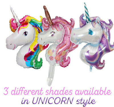 1xUnicorn Shaped Foil Balloon For Childrens Birthday, Party Decoration,Cute Gift