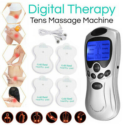 Tens Machine Digital Therapy Full Body Massager Acupuncture Pain Relief New