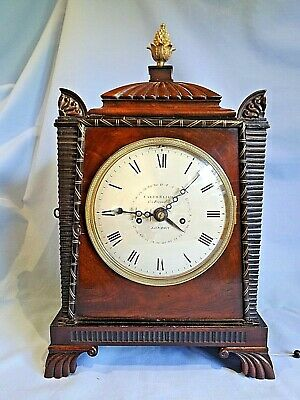 Superb Regency Egyptian Revival Twin Fusee Calender Bracket Clock C1820.