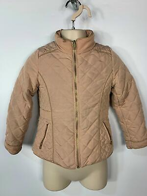 Girls H&M Dusky Pink Quilt Light Weight Casual Raincoat Jacket Kids Age 4/5 Yrs