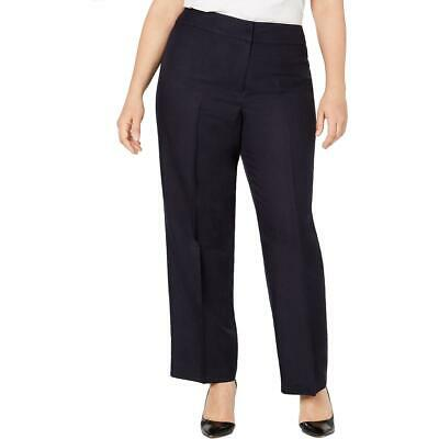 Nine West Womens Linen Blend Mid-Rise Straight Leg Pants Plus BHFO 9323