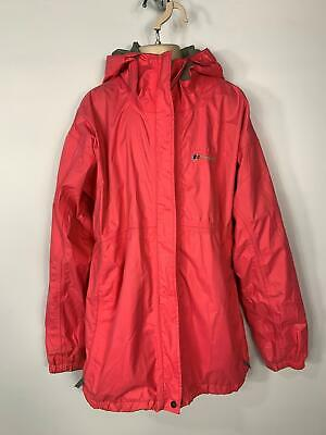 Girls Berghaus Pink Light Weight Casual Hood Rain Coat Jacket Kids Age 13 Years