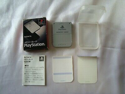 Official SONY PlayStation 1 Grey Memory Card PS1 Boxed