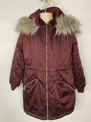 Girls Candy Couture Red Winter Padded Casual Rain Coat Jacket Kids Age 10 Years
