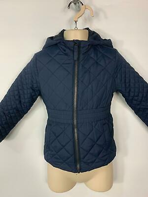 Girls Debenhams Navy Blue Quilted Casual Rain Coat Jacket Kids Age 4/5 Years