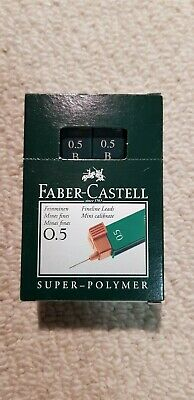 Faber Castell Super Polymer Lead Refills 0.5mm B. Box of 12 packs