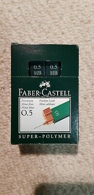 Faber Castell Super Polymer Lead Refills 0.5mm HB. Box of 12 packs
