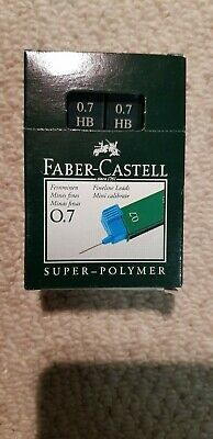 Faber Castell Super Polymer Lead Refills 0.7mm HB. Box of 12 packs