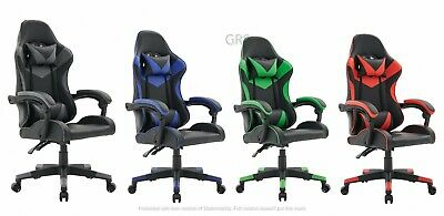 Gaming Computer Chair Ergonomic Adjustable Swivel Recliner Laptop Office Chair