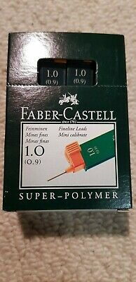 Faber Castell Super Polymer Lead Refills 1mm (0.9mm) B. Box of 12 packs