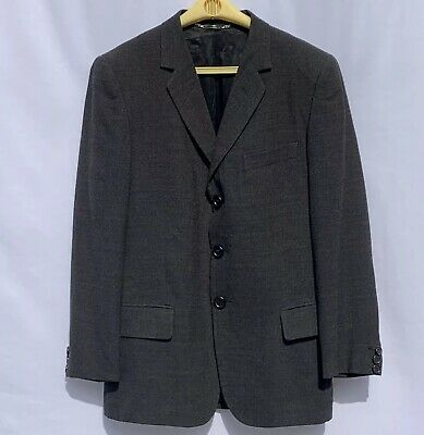 DOLCE & GABBANA BLAZER SIZE 48 IT / 42 US LARGE PLAID GRAY 3Button MADE IN ITALY