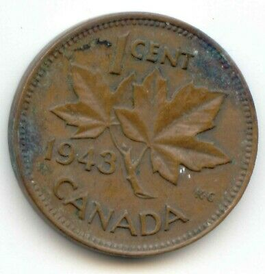 Canada 1943 Canadian PENNY one cent King George VI 1c         EXACT COIN SHOWN