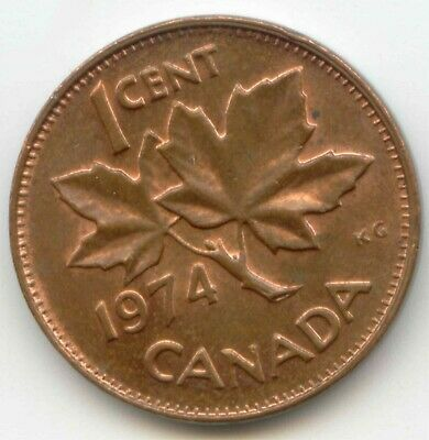 Canada 1974 Penny Canadian 1 Cent One 1c *EXACT* COIN