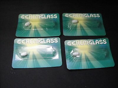 "Lot of 4 NEW CHEMGLASS CG-2001-04 MAGNETIC STIRRING BAR 5/8"" X 5/16"""