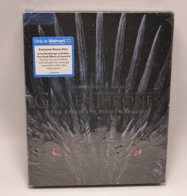 Game Of Thrones The Complete Eighth Season W/ Exclusive Disc Blu-Ray New Sealed