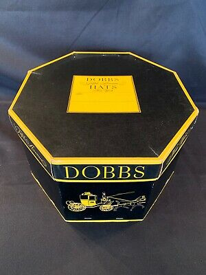 Vintage Black & Yellow DOBBS FIFTH AVENUE Hats New York - BOX ONLY
