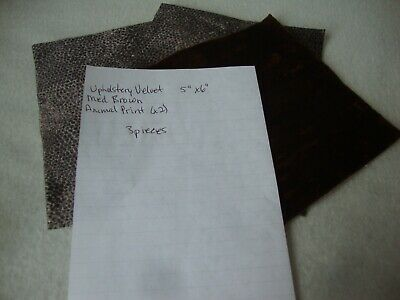 """Teddy Bear Making Fabric - Upholstery Velvet - 2 Colours - 3 Pieces - 5"""" x 6"""""""