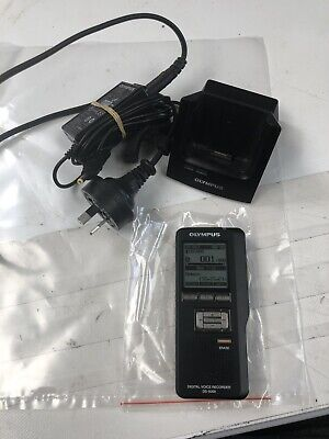 OLYMPUS Digital Voice Recorder DS-5000 Dictaphone Power Cable And Cradle