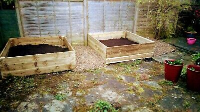 wooden raised beds, vegetable planters, herb planters