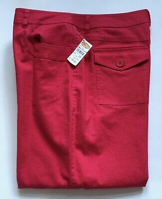 NWT Talbots Cropped Pants Missy 10 Stretch Linen Cotton Deep Pink Inseam 23""