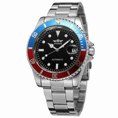 Winner Mens Stainless Steel Classic Automatic Mechanical Wrist Watches Silver AU