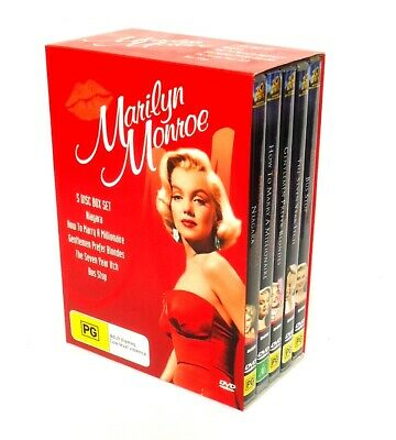 Marilyn Monroe Collection-DVD Box 5-Disc-5 Movies-Niagara-Seven Year Itch+3 More
