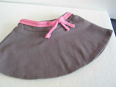 "Authentic American Girl 18"" Doll 2012 True Spirit Grey Skirt w fixed pink belt"