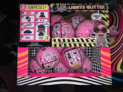 LOL Surprise LIGHTS GLITTER Series Balls Dolls NEW In Hand Untouched Case Box 12