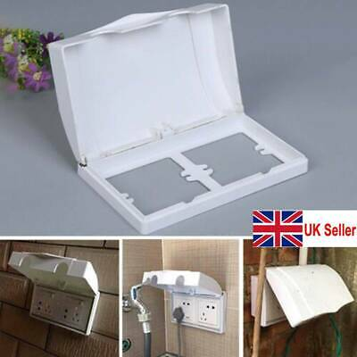Hot Double Sockets Protector Electric Plug Cover Child Baby Safety Box