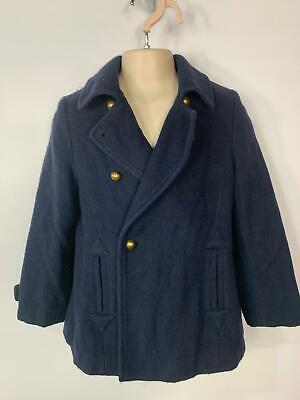 Girls Zara Navy Blue Smart/Casual Winter Over School Coat Jacket Kid Age 5/6 Yrs
