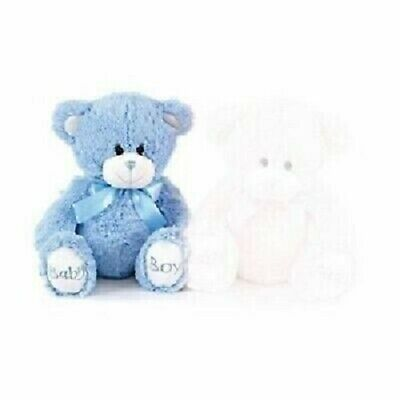 "8"" Baby Boy Soft Teddy Bear with Silk Ribbon"