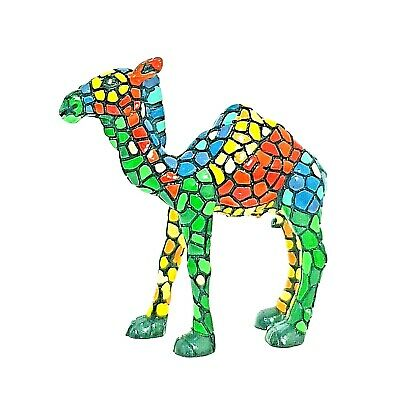Jerusalem Camel Figurine Mosaic Style souvenir hand painted collectible israel