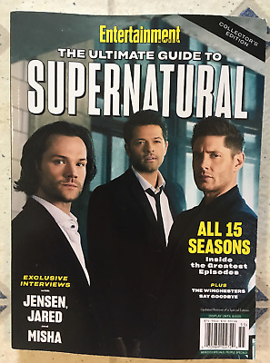Entertainment Weekly GUIDE TO SUPERNATURAL All 15 SEASONS Jensen JARED Misha NEW