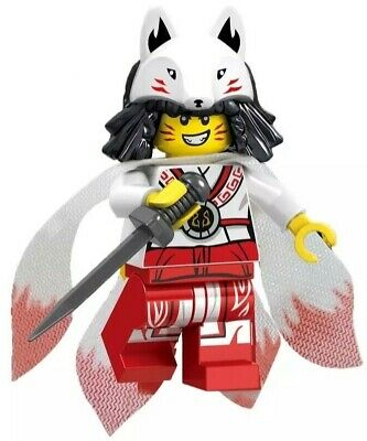 Ninjago Akita Ninja Samurai Warrior Custom Lego Mini Figure Fox Suit Girl Toy
