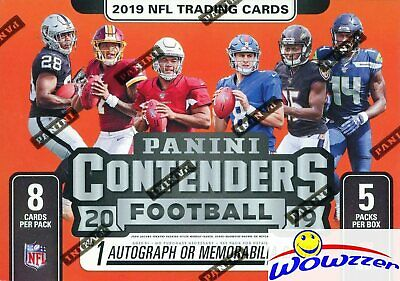 2019 Panini Contenders Football Factory Sealed Blaster Box-AUTOGRAPH/MEMORABILIA