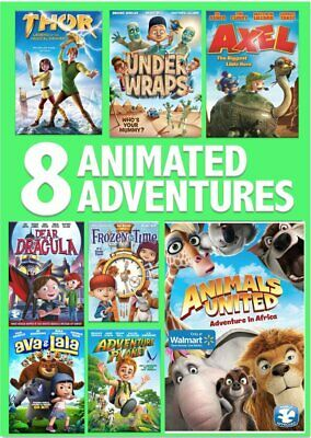 8 Film Animated Adventures Pack DVD Box Set