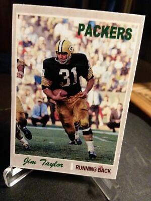 ACEO JIM TAYLOR GREEN BAY PACKERS CUSTOM HAND MADE ART CARD