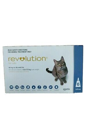 Revolution for Cats 2.6 to 7.5 Kg, 6 Pack - Blue