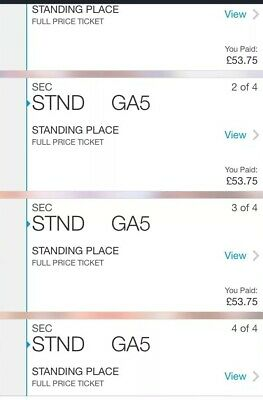 Stereophonics Tickets Standing For Cardiff 15th March 2 Pairs Of Tickets
