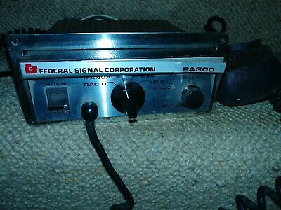 Federal Signal PA300 vintage chrome American cop car police siren