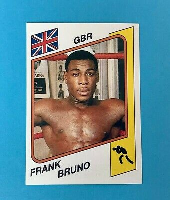 Panini Supersport 1986 Frank Bruno Boxing Sticker 156 (MINT CONDITION)