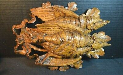 """Black Forest """"Trophies of the Hunt"""" Wood Carvings of Game Birds"""