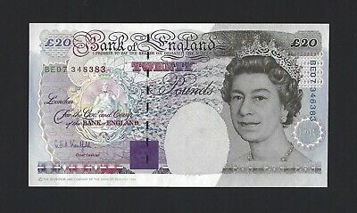 GREAT BRITAIN 20 Pounds 1994 Bank of England, B375 Kentfield, Scarce in UNC QEII