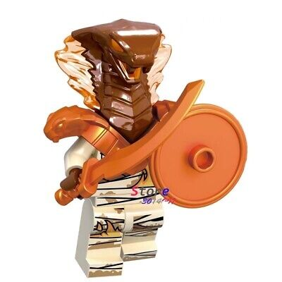 Ninjago Brown Pyro Snake Custom Lego Mini Figure Masters of Spinjitsu Ninja Toy