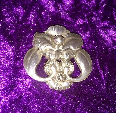 ⚜️1910-25⚜️EARLY+RARE⚜️GEORG JENSEN Art Nouveau Silver 'Orchid' BROOCH/Pin #97.