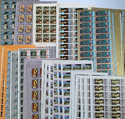Worldwide Huge Stamp Lot - 1677 Used Stamps in 237 Full Sets (10 Different Sets)