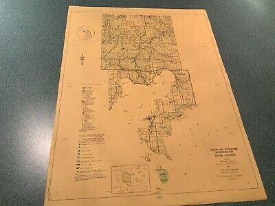 1974 East Part - Delta County Michigan  DNR Highway & Recreation Information Map
